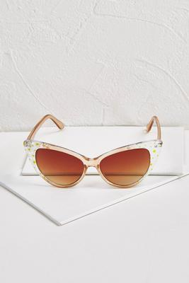 daisy cat eye sunglasses