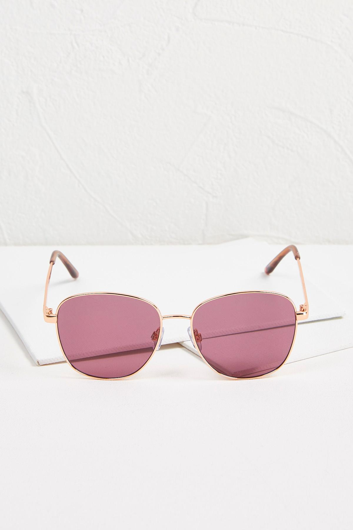 Purple Tinted Metal Sunglasses
