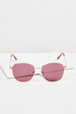 purple tinted metal sunglasses s
