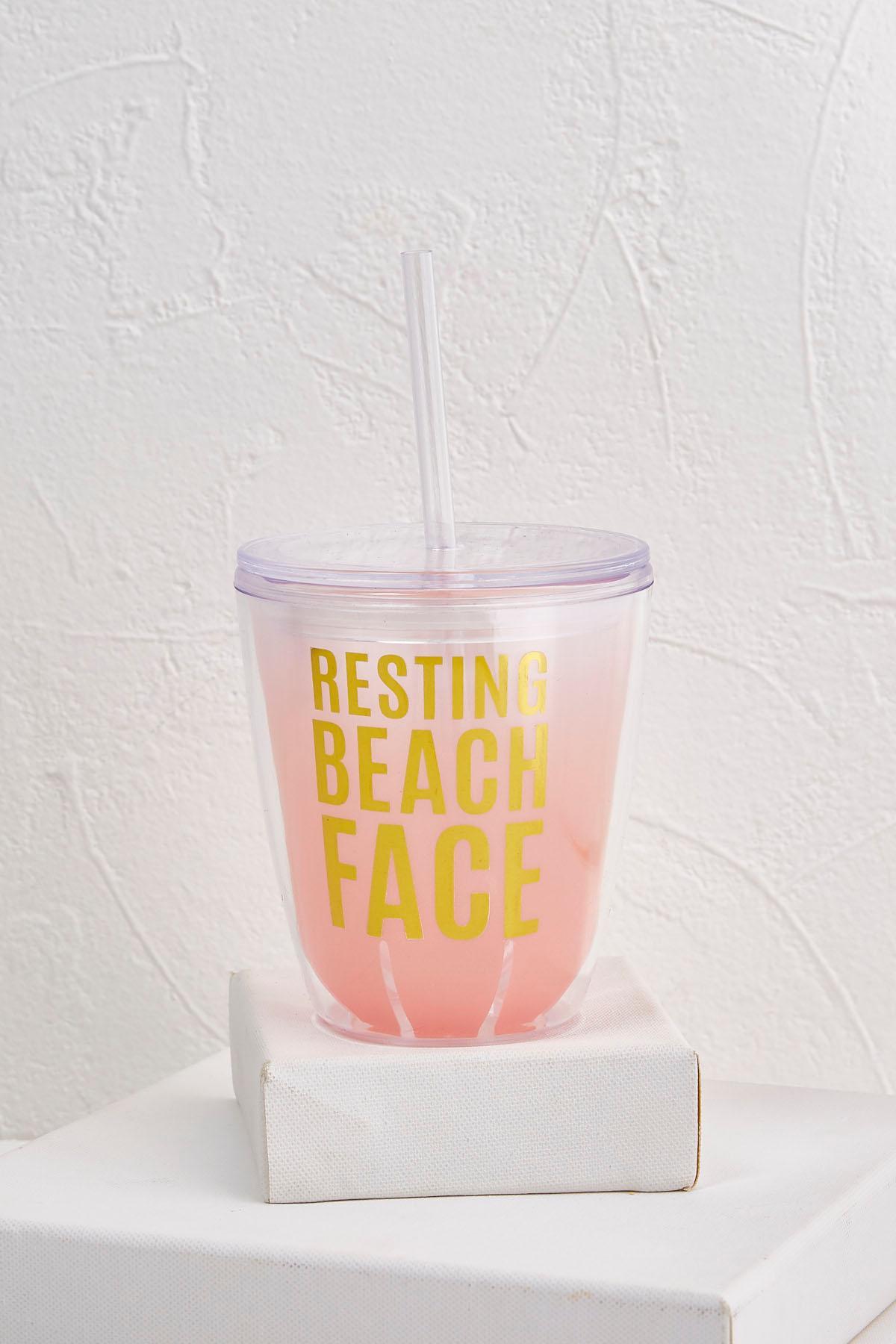 Resting Beach Face Tumbler