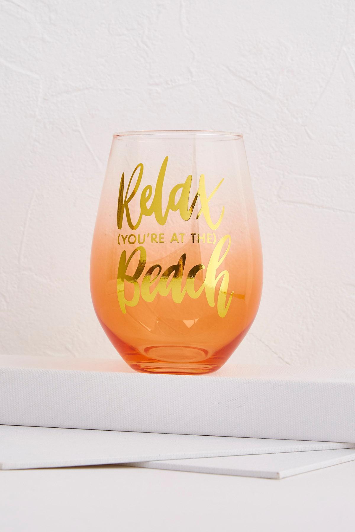 Jumbo At The Beach Wine Glass