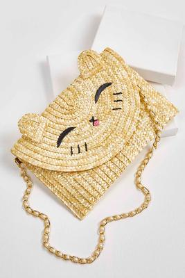 straw cat bag