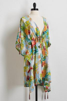 tropical flamingo cover-up
