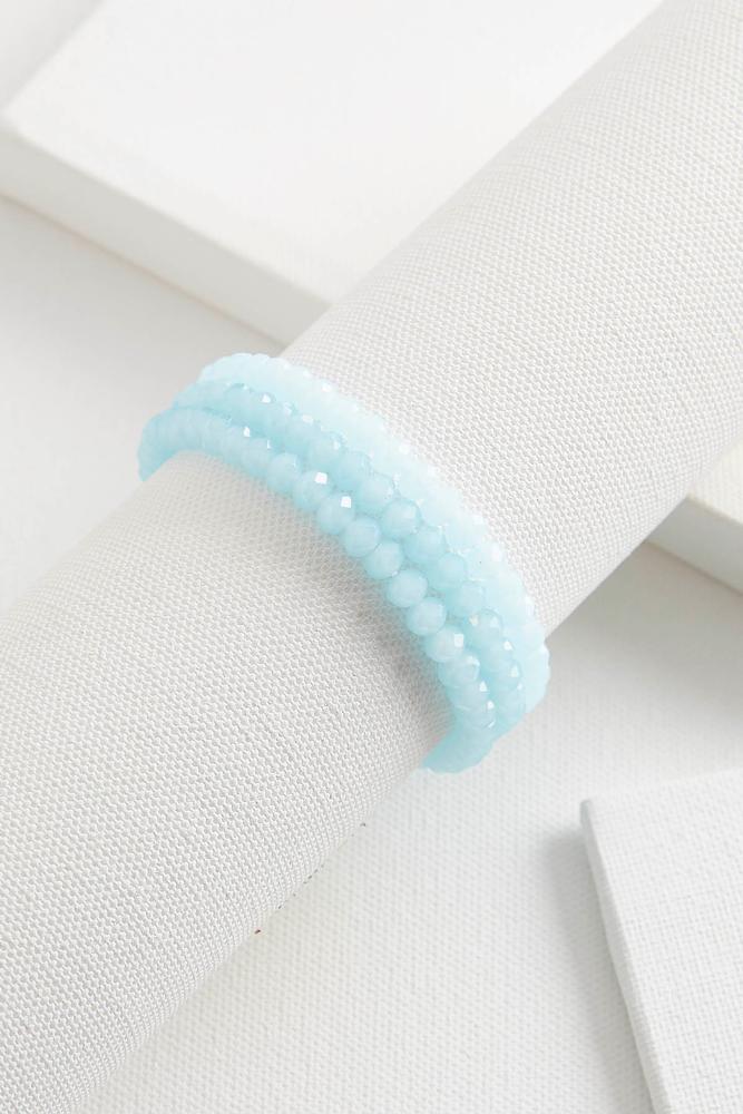 Crystal Bead Stretch Bracelet Set