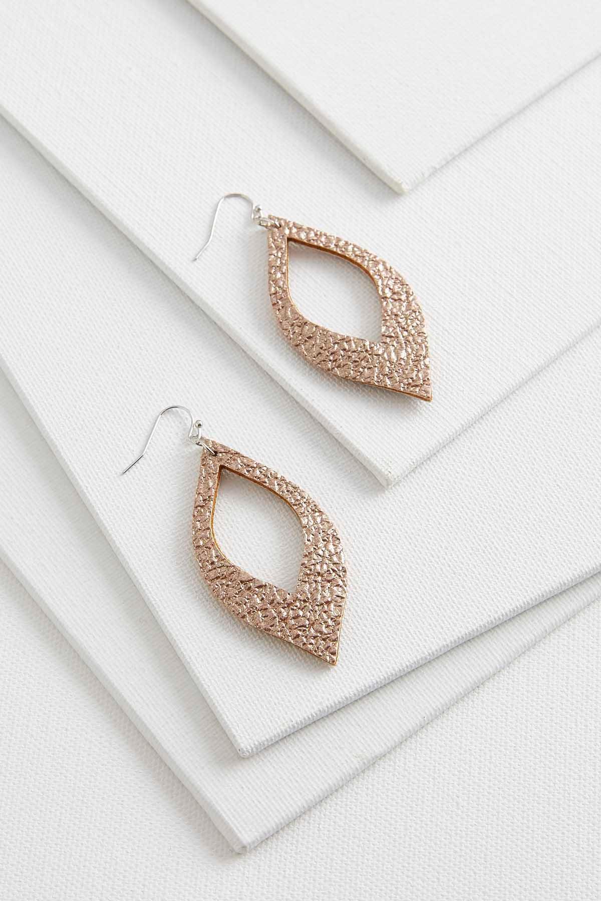Metallic Textured Earrings