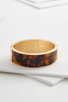 tortoise shell hinge bracelet