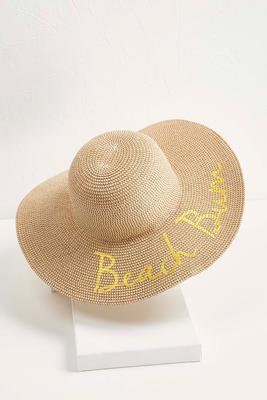 metallic beach bum sun hat s