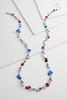 Patriotic Mixed Bead Necklace