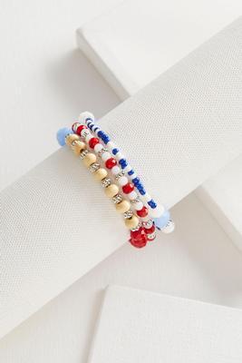 mixed bead stretch bracelet set