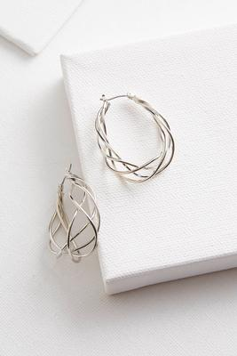 braided metal hoops