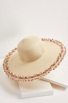 confetti frayed edge sun hat s