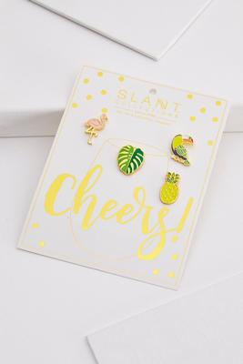 tropical drink charm set