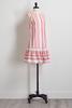 Striped Pom- Pom Trim Shift Dress