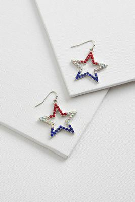 patriotic rhinestone star earrings
