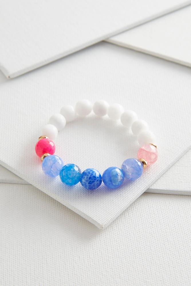 Beaded Semi- Precious Stretch Bracelet