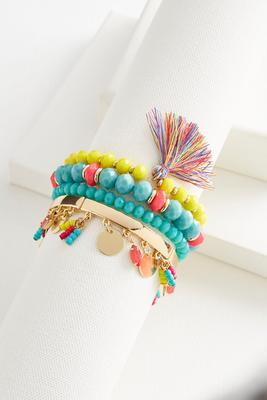 shaky tassel stretch bracelet set
