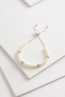 pearl and pave bead bracelet