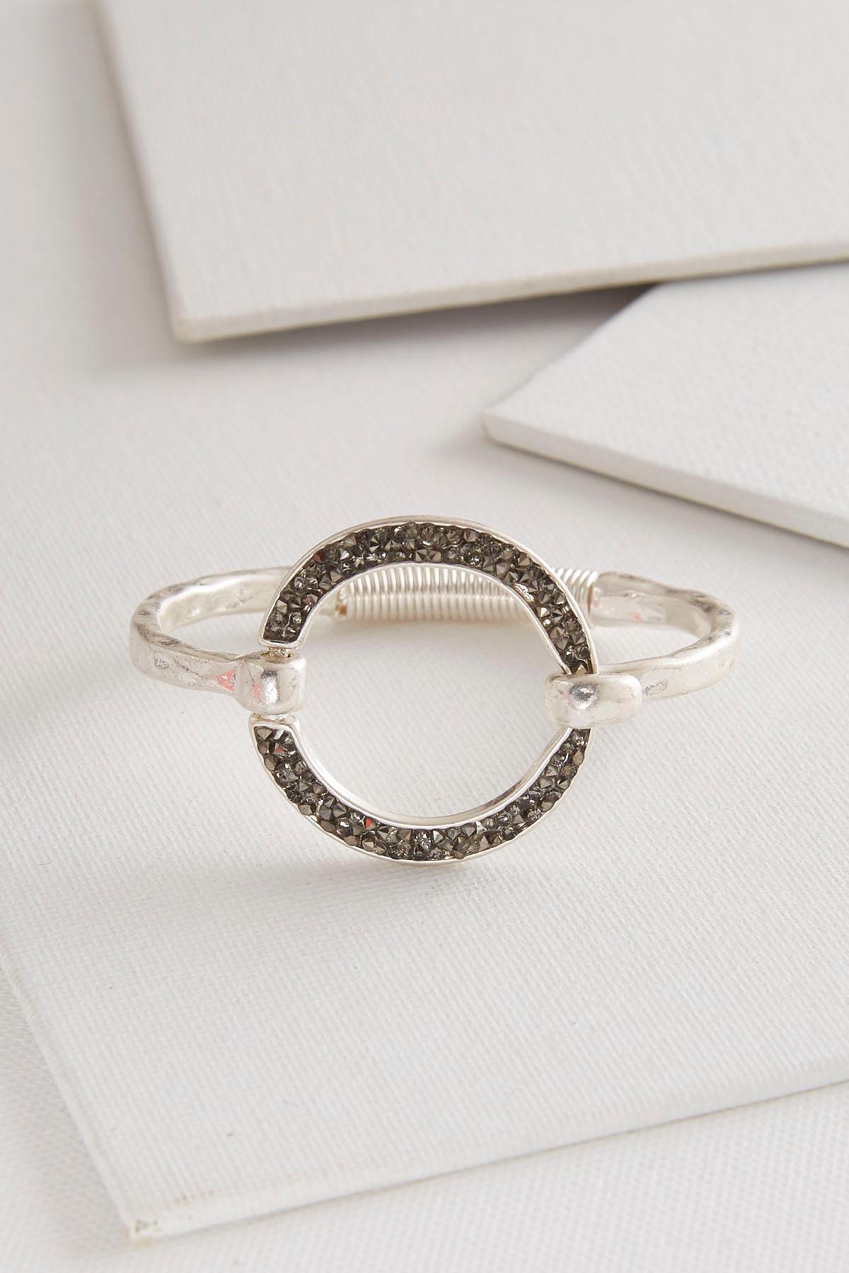 Crushed Stone Circle Bracelet