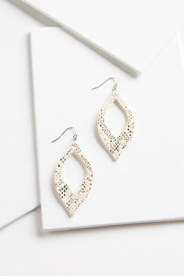 snake skin textured earrings