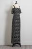 Geo Bare Shoulder Maxi Dress