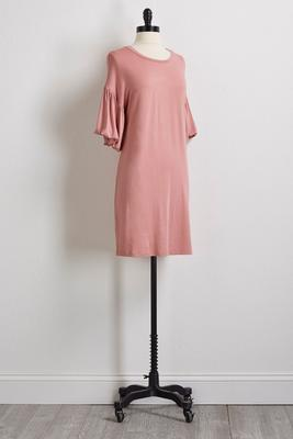 balloon sleeve t-shirt dress