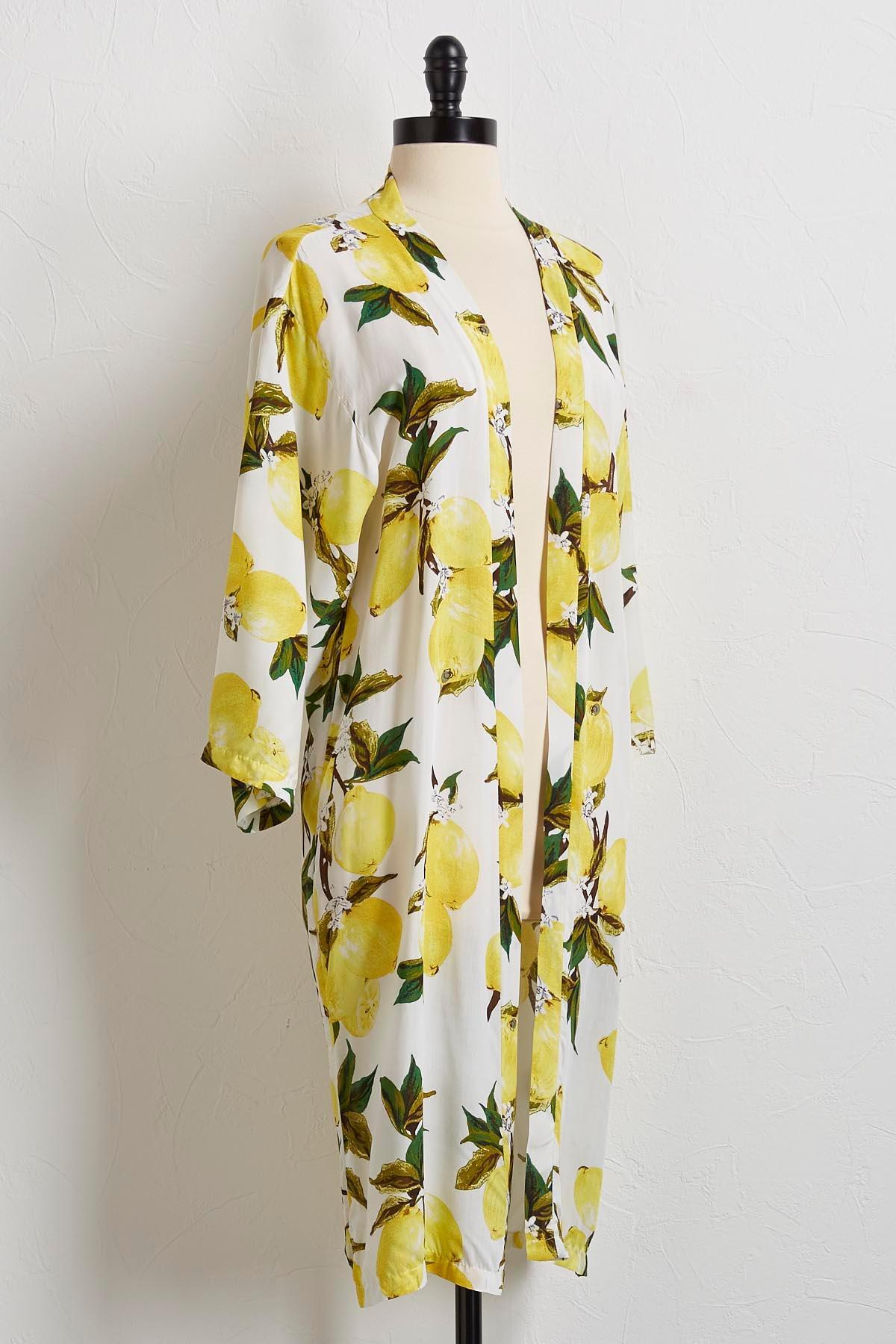 Fresh Lemons Kimono