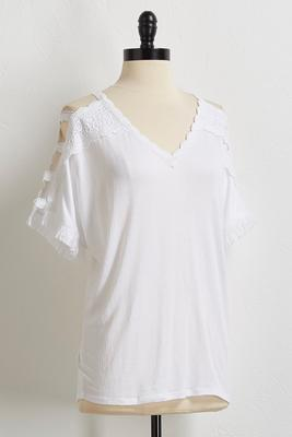 lace ladder sleeve top