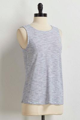 striped tie back tank