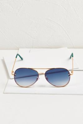 rimless ombre aviators