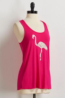 flamingo crochet tank