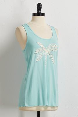 palm tree crochet tank