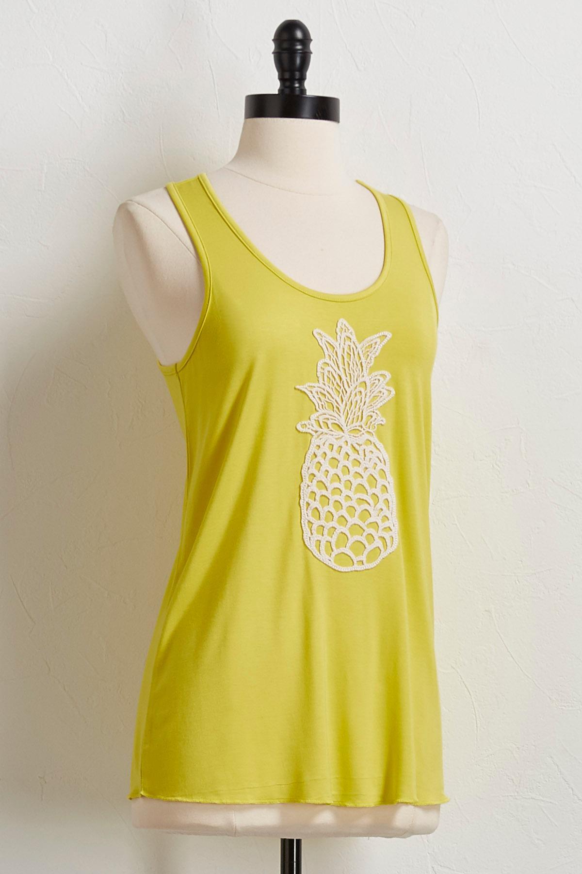 Pineapple Crochet Tank
