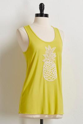 pineapple crochet tank