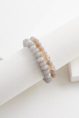 semi-precious stretch bracelet set