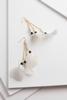 Striped Dangle Feather Earrings