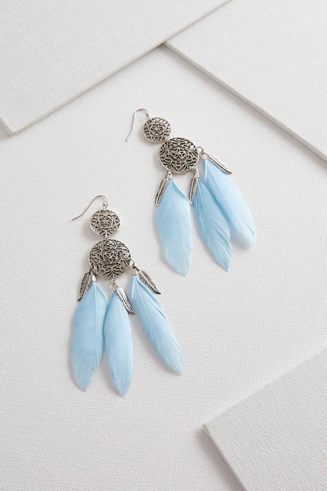 Dream Catcher Feather Earrings