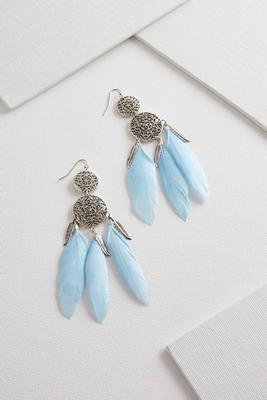dream catcher feather earrings s