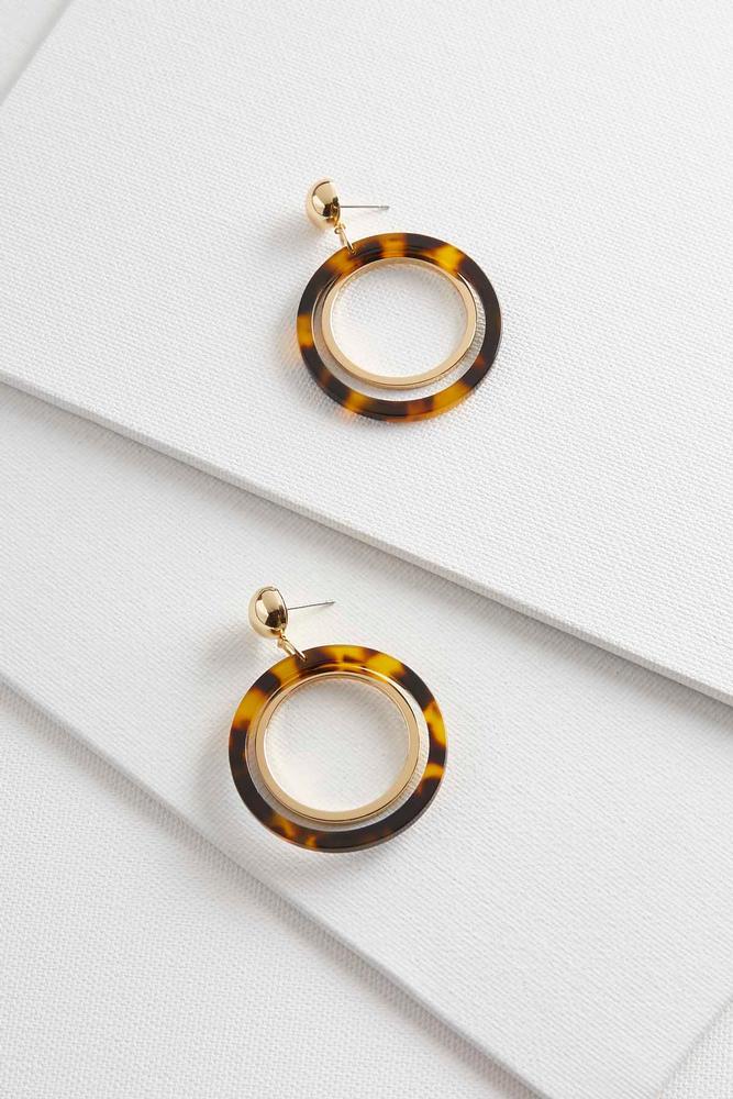 Marbled Resin Metal Hoops