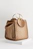 Ostrich Gold Ring Crossbody Bag