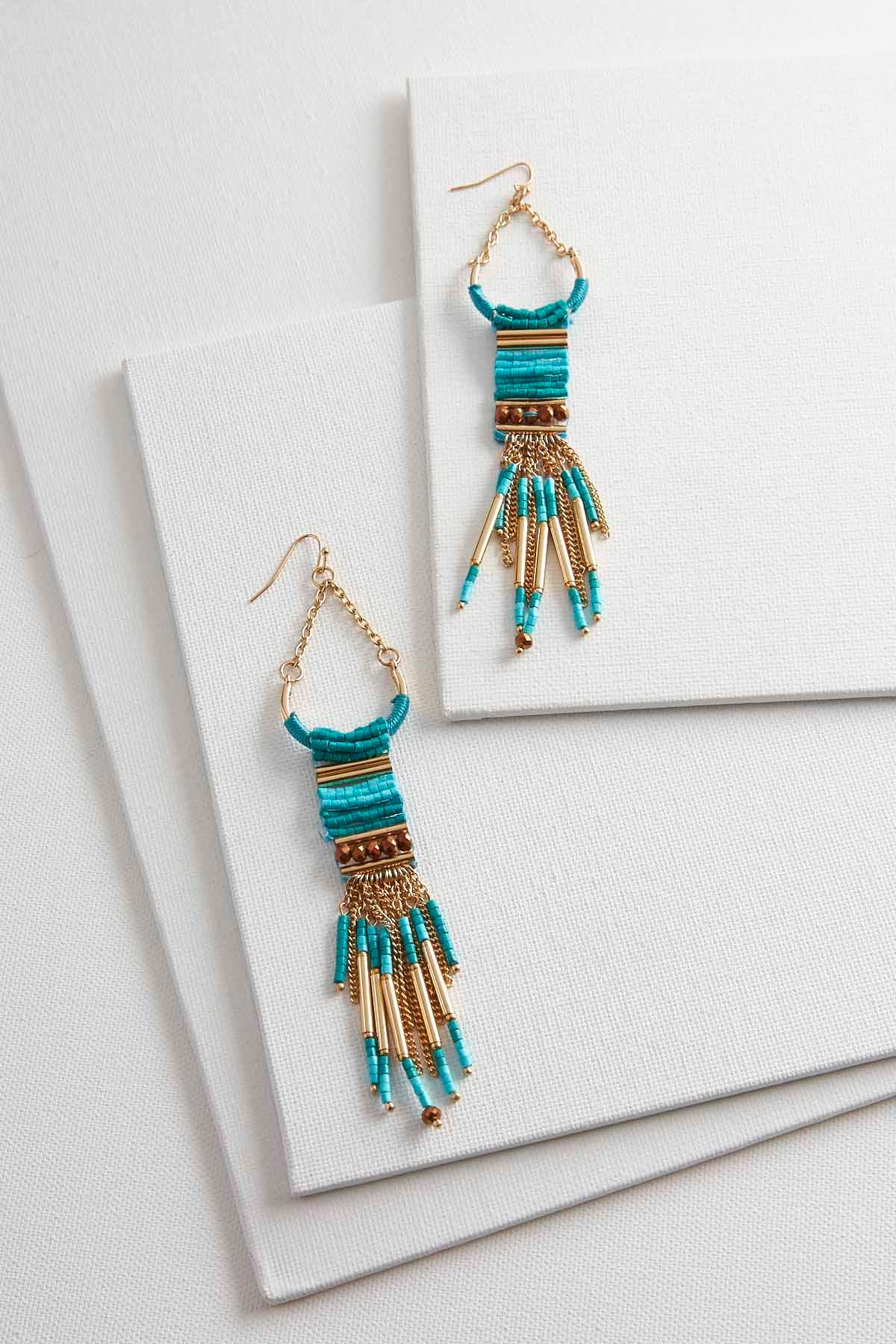 Beaded Ladder Chandelier Earrings