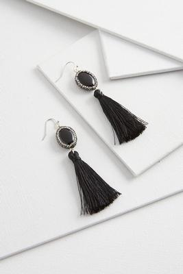 rhinestone semi-stone tassel earrings