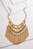 Shaky Gold Fringe Bib Necklace