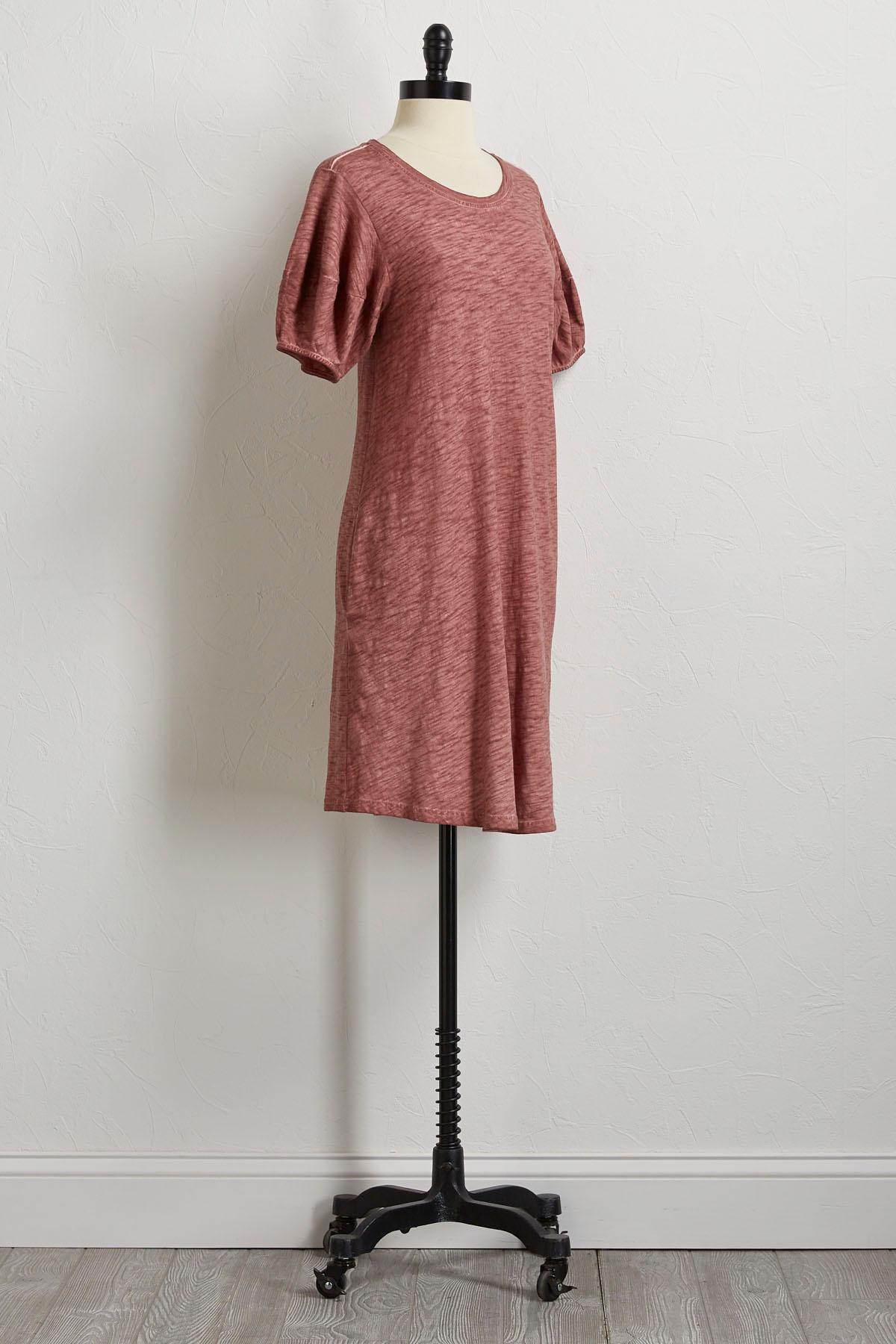 Bubble Sleeve T- Shirt Dress