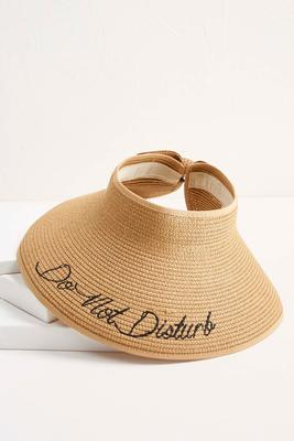 do not disturb packable visor s