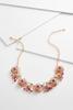Glass Flower Bib Necklace