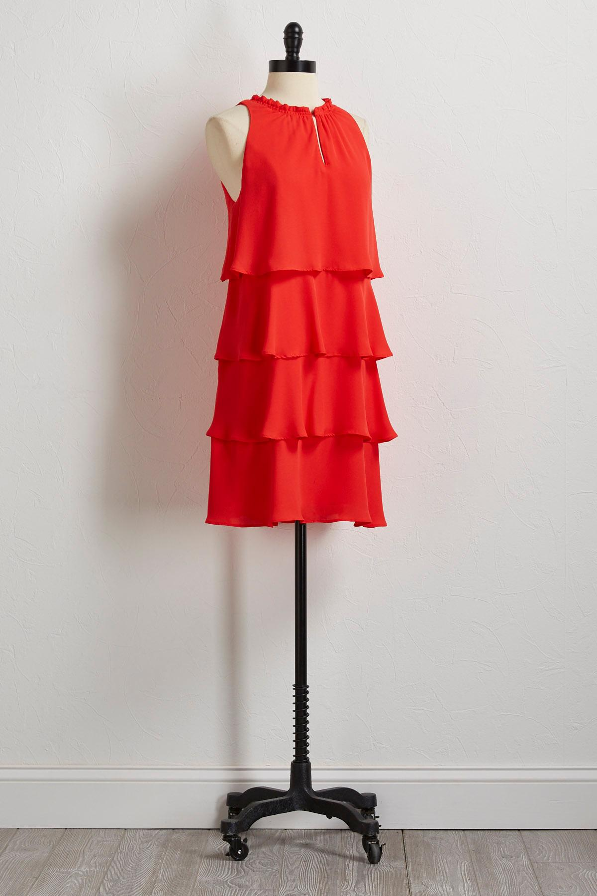 Ruffled Tiered Shift Dress
