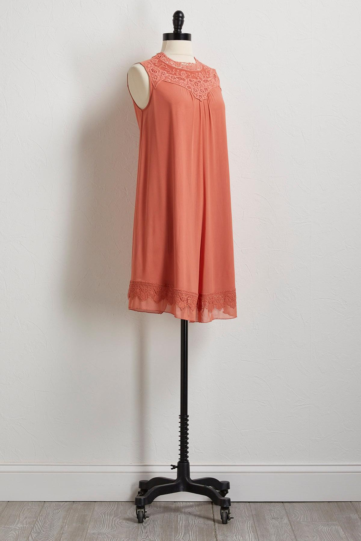 Mesh Crochet Shift Dress