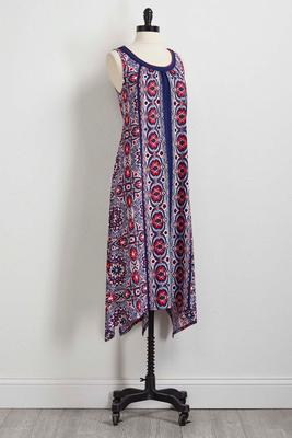 kaleidoscope floral maxi dress