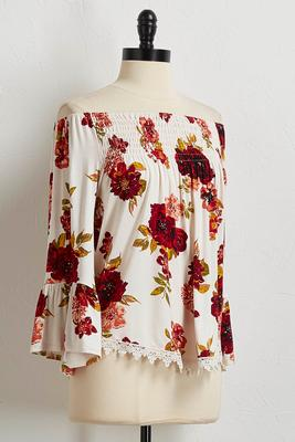 romantic off the shoulder top