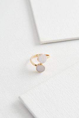 ivory druzy wrap ring